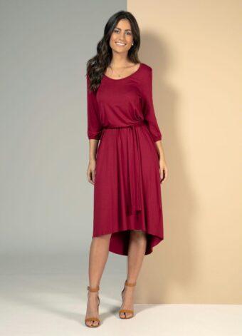 Vestido Mullet Vermelho em Áquila Tauheny Store | Moda Evangélica