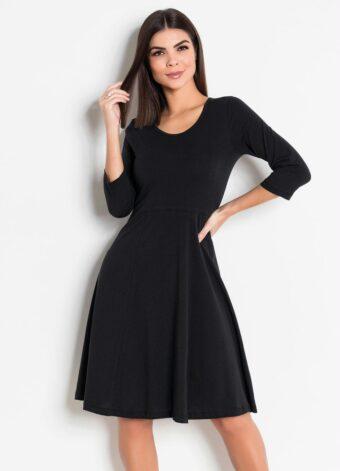Vestido Preto com Mangas 7/8 em Áquila Tauheny Store | Moda Evangélica