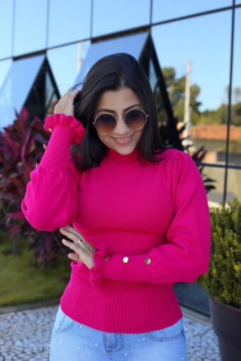 Blusa Tricot Rosa em Áquila Tauheny Store | Moda Evangélica