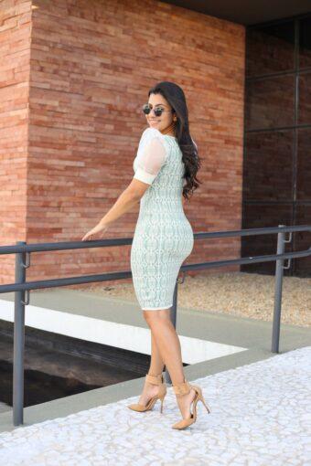 Vestido de Tricot na cor Mint em Áquila Tauheny Store | Moda Evangélica