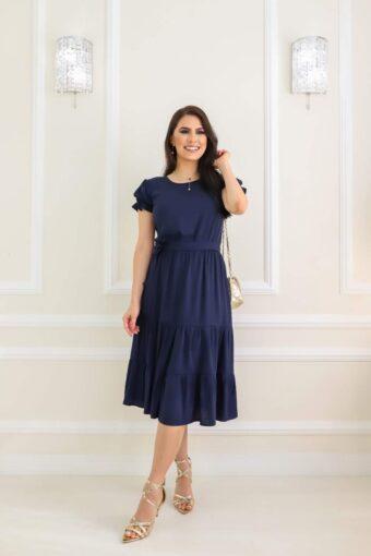 Vestido Midi Azul em Áquila Tauheny Store | Moda Evangélica