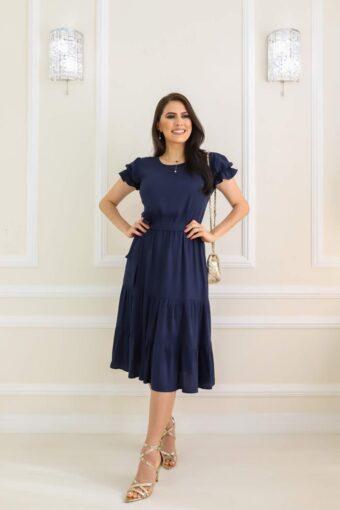 Vestido Midi Azul em Áquila Tauheny Store   Moda Evangélica