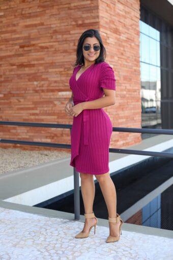 Vestido de Tricot Fucsia em Áquila Tauheny Store | Moda Evangélica