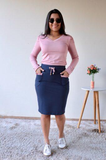 Conjunto Rosa com Azul em Áquila Tauheny Store | Moda Evangélica