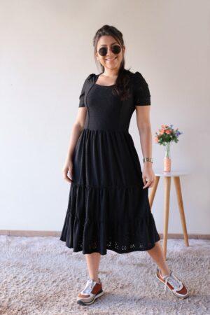 Vestido Midi Malha Lasie