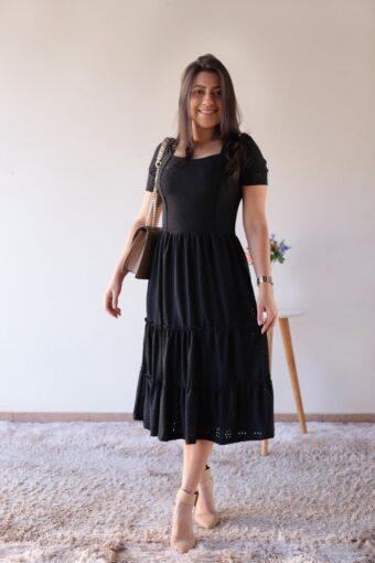 Vestido Midi Malha Lasie em Áquila Tauheny Store | Moda Evangélica