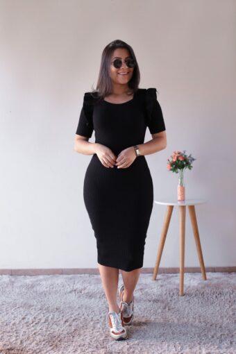 Vestido Tricot Preto em Áquila Tauheny Store | Moda Evangélica
