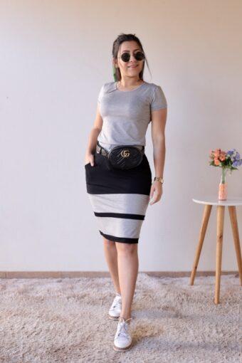 Conjunto de Malha Mescla com Preto em Áquila Tauheny Store | Moda Evangélica
