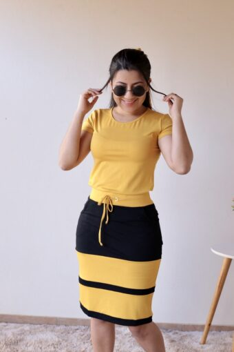 Conjunto de Malha Amarelo em Áquila Tauheny Store | Moda Evangélica