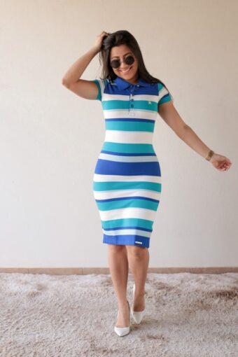 Vestido Azul Escuro Marisa em Áquila Tauheny Store | Moda Evangélica