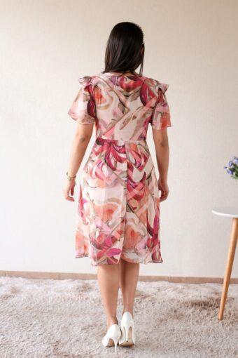 Vestido Floral Crepe em Áquila Tauheny Store | Moda Evangélica
