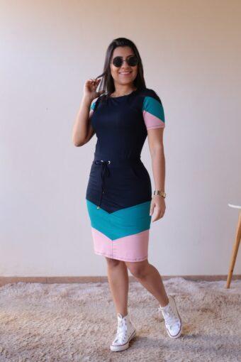 Vestido de Malha Azul em Áquila Tauheny Store | Moda Evangélica