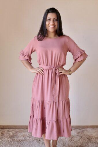 Vestido Midi Viscolinho em Áquila Tauheny Store | Moda Evangélica