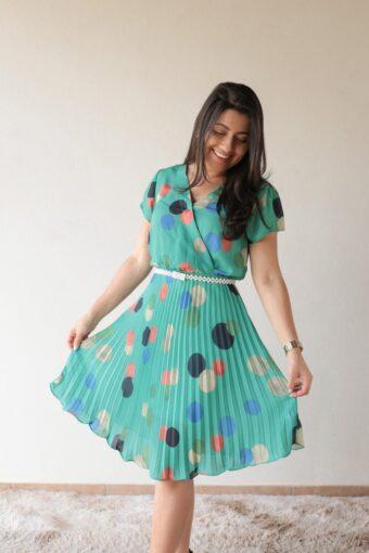 Vestido Plissado em Áquila Tauheny Store | Moda Evangélica