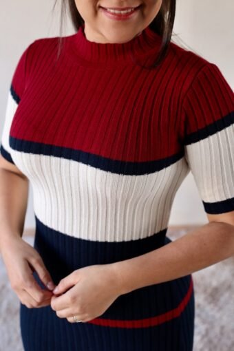 Vestido Tricot Vermelho em Áquila Tauheny Store | Moda Evangélica