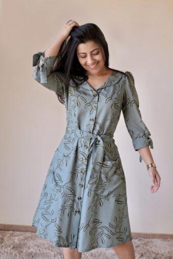 Vestido Viscose Godê em Áquila Tauheny Store | Moda Evangélica