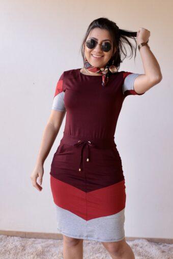 Vestido de Malha Bordô em Áquila Tauheny Store | Moda Evangélica