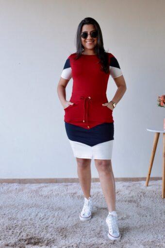 Vestido de Malha Vermelho em Áquila Tauheny Store | Moda Evangélica