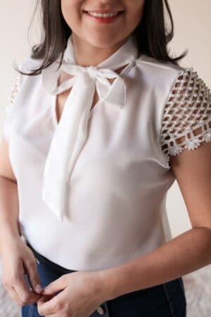 Blusa Crepe Branca