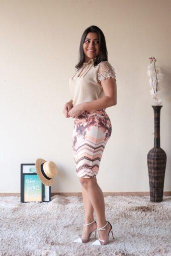 Blusa Crepe Nude em Áquila Tauheny Store | Moda Evangélica
