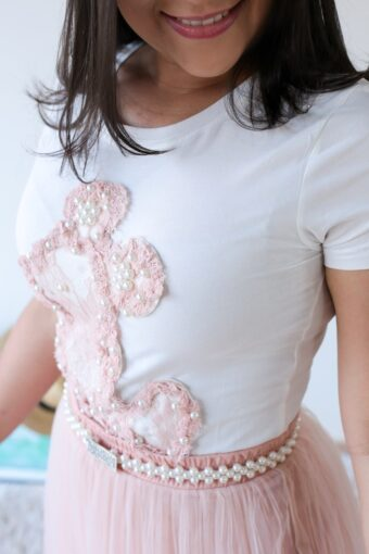 Camiseta T-shirt Pérola em Áquila Tauheny Store | Moda Evangélica