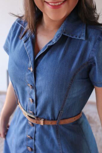 Vestido Jeans Claro em Áquila Tauheny Store | Moda Evangélica
