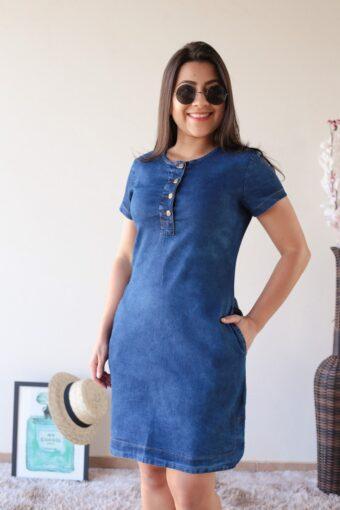 Vestido Jeans Soltinho em Áquila Tauheny Store | Moda Evangélica