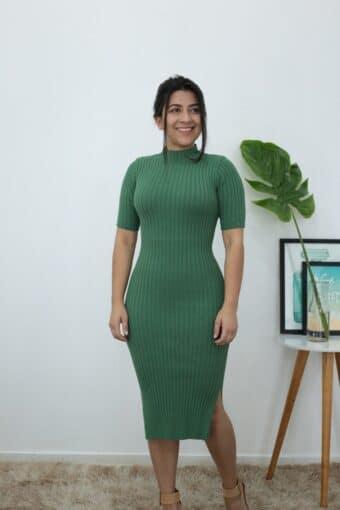 Vestido Tricot Verde em Áquila Tauheny Store | Moda Evangélica