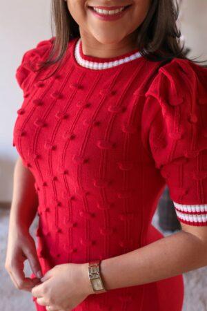 Vestido Tricot Vermelho