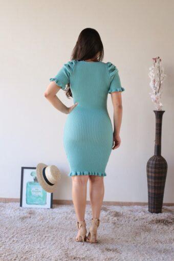 Vestido Tricot Azul Tiffany em Áquila Tauheny Store | Moda Evangélica