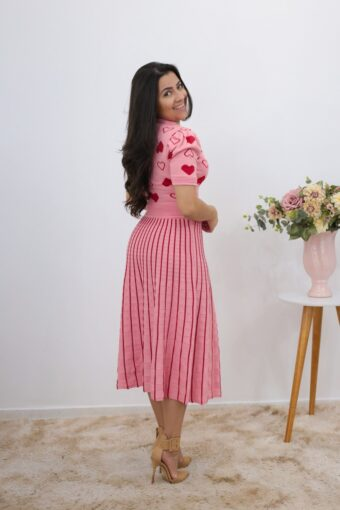 Conjunto Tricot Midi Rosa em Áquila Tauheny Store | Moda Evangélica