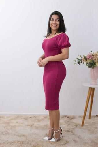 Vestido Tricot Fucsia em Áquila Tauheny Store | Moda Evangélica