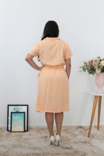 Vestido Viscose Coral em Áquila Tauheny Store | Moda Evangélica