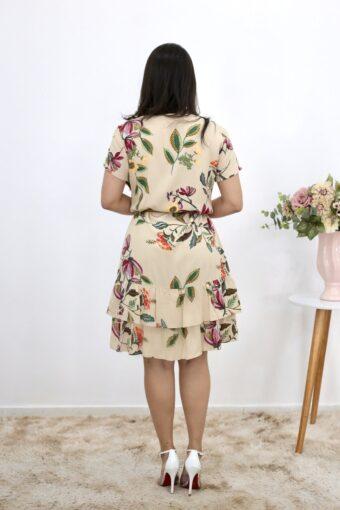 Vestido de Viscose Estampado em Moda Evangélica