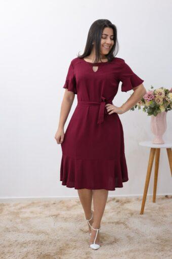 Vestido Viscose Marsala em Áquila Tauheny Store | Moda Evangélica