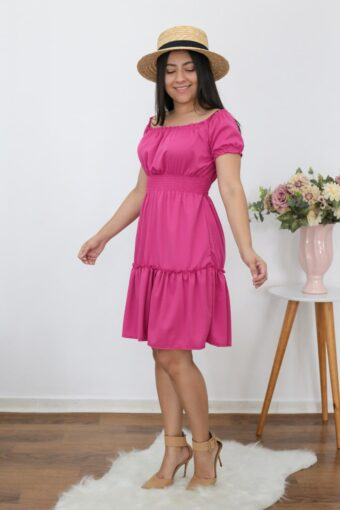 Vestido Babado Pink