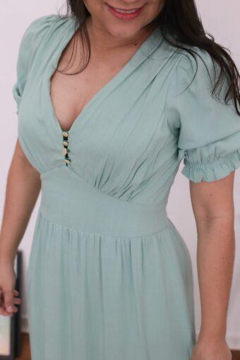 Vestido Longo Verde Mint
