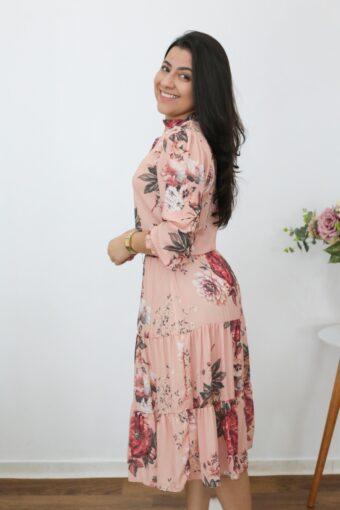 Vestido Midi Flores do Campo