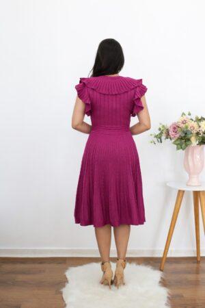 Vestido de Tricot Fúcsia