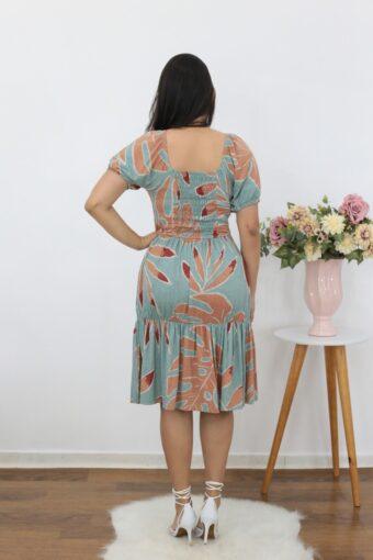 Vestido de Malha Estampado Soltinho | Moda Evangélica
