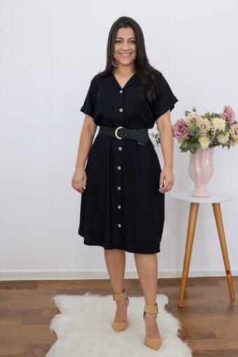 Chemise Linho Black | Moda Evangélica