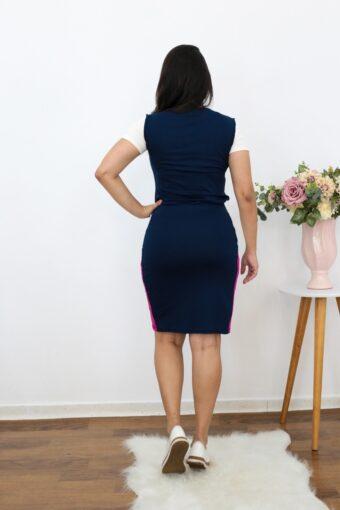 Conjunto de Malha Azul Marinho | Moda Evangélica