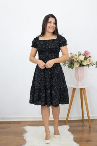 Vestido Poá Jasmim em Moda Evangélica