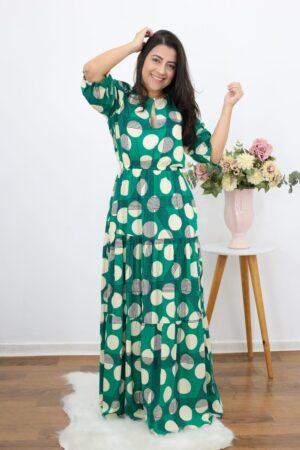 Vestido Longo Green