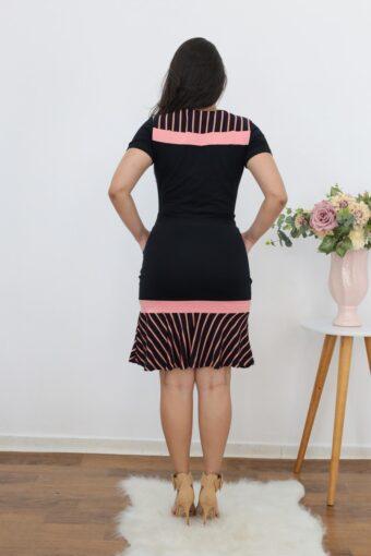 Vestido de Malha Peplum Preto | Moda Evangélica
