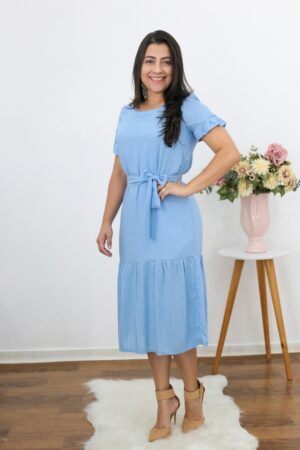 Vestido Midi Light Blue