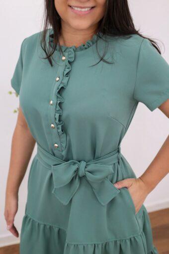 Vestido Midi Lily AT | Moda Evangélica