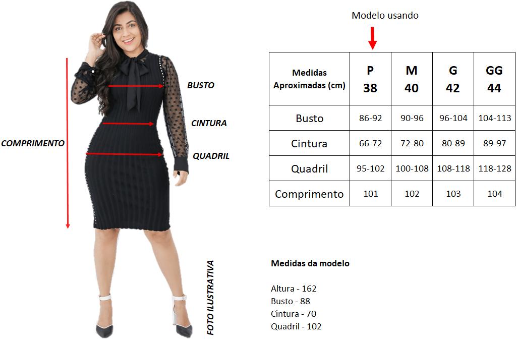 Tabela de Medidas   Áquila Tauheny Store