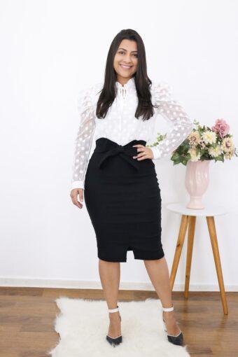 Saia Lápis Amanda em Moda Evangélica