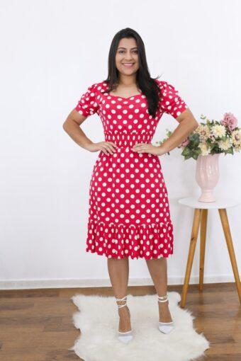 Vestido Poá Queren | Moda Evangélica